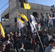 آلاف المواطنينن يشيعون جثمان الشهيد  عودة في قصرة جنوب نابلس