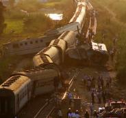 ارتفاع عدد ضحايا تصادم قطارين في الاسكندرية إلى 42