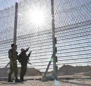 جدار اسرائيلي على حدود غزة