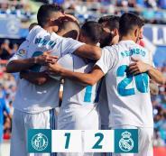 ريال مدريد ينتصر بصعوبة على خيتافي.. وكريستيانو رونالدو وبنزيمة ينهيان صيام الليجا