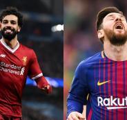 ميسي يطلب من إدارة برشلونة التعاقد مع محمد صلاح