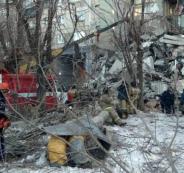 انهيار مبنى في روسيا