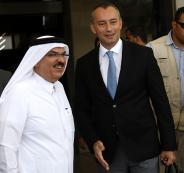 ميلادينوف والسفير القطري في غزة