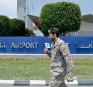 قصف مطار سعودي
