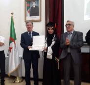 طالبة فلسطينية نحرز المركز الأول في الحقوق بالجزائر