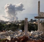 قصف على ادلب السورية