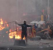التظاهرات في كتالونيا