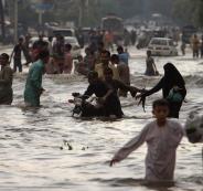 قتلى جراء الفيضانات في باكستان