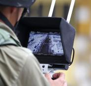 نصب كاميرات مراقبة اسرائيلية على مدخل يطا