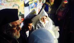 حفل زفاف في خيمة اعتصام الاسرى برام الله