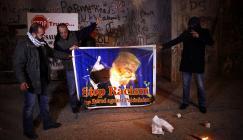 حرق صور ترامب في بيت لحم