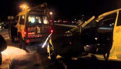 9 إصابات إحداها خطيرة بحادث سير بين 3 مركبات غرب الخليل