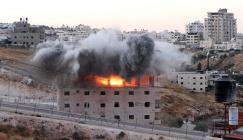 تفجير بناية سكنية في وادي الحمص
