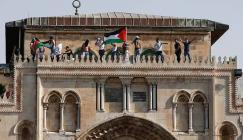 رفع العلم الفلسطيني في المسجد الأقصى