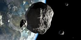 كويكب ضخم والأرض