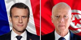 الرئيس التونسي والرئيس الفرنسي