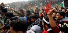 شهيد و120 جريح بمسيرات العودة على حدود غزة
