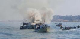 البحرية الاسرائيلية والصيادين في غزة