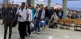 ارتفاع اعداد العمال الفلسطينيين في اسرائيل