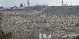 تجريف اراضي المواطنين جنوب نابلس