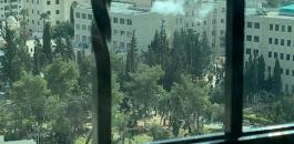 انفجار داخل جامعة الخليل
