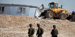 الجيش الاسرائيلي يهدم