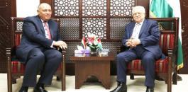 وزير الخارجية المصري فيى رام الله