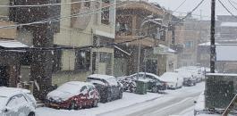 الثلوج في جبل الشيخ