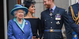 ملكة بريطانيا والامير هاري وميغان