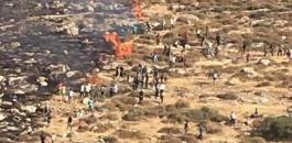 حرائق دونمات في الضفة الغربية