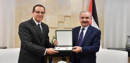 اشتيه وسفير مصر في فلسطين