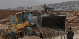 الاحتلال يجرف اراضي جنوب نابلس