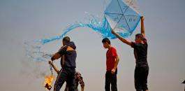 طائرات غزة الورقية واسرائيل