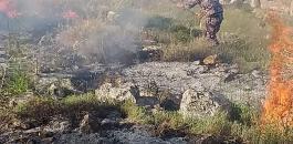 المستوطنون يشعلون النيران باراض نابلس