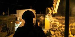 هدم منازل الفلسطينيين في االضفة الغربية