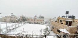 الثلوج في رام الله