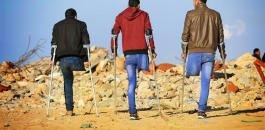 شبان مصابون خلال مسيرة العودة