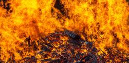 حريق في مصنع اخشاب بمسحة