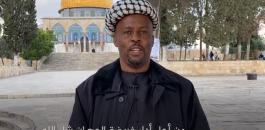 افريقي يصل المسجد الاقصى مشيا على الاقدام