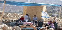 خيام للمستوطنين في بورين