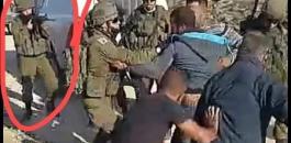 اطلاق النار على شاب فلسطيني من مسافة صفر