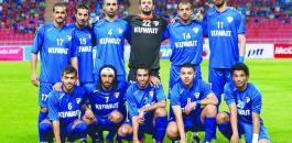 المنتخب الكويتي والفلسطيني في القدس
