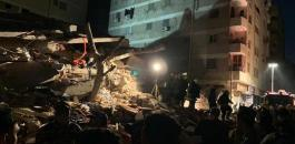 انهيار بناية سكنية في مصر