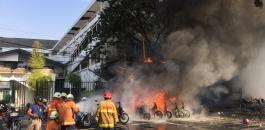 ضحايا بتفجير استهدف كنيسة في اندونيسيا