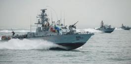 البحرية الاسرائيلية ومدينة غزة