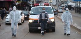الوفيات بكورونا في غزة