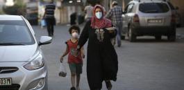 الوفيات والاصابات بكورونا في غزة