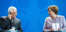 المانيا وميركل وعباس