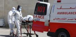 الوفيات والاصابات بكورونا في فلسطين
