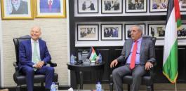 حسين الشيخ وسفير هولندا